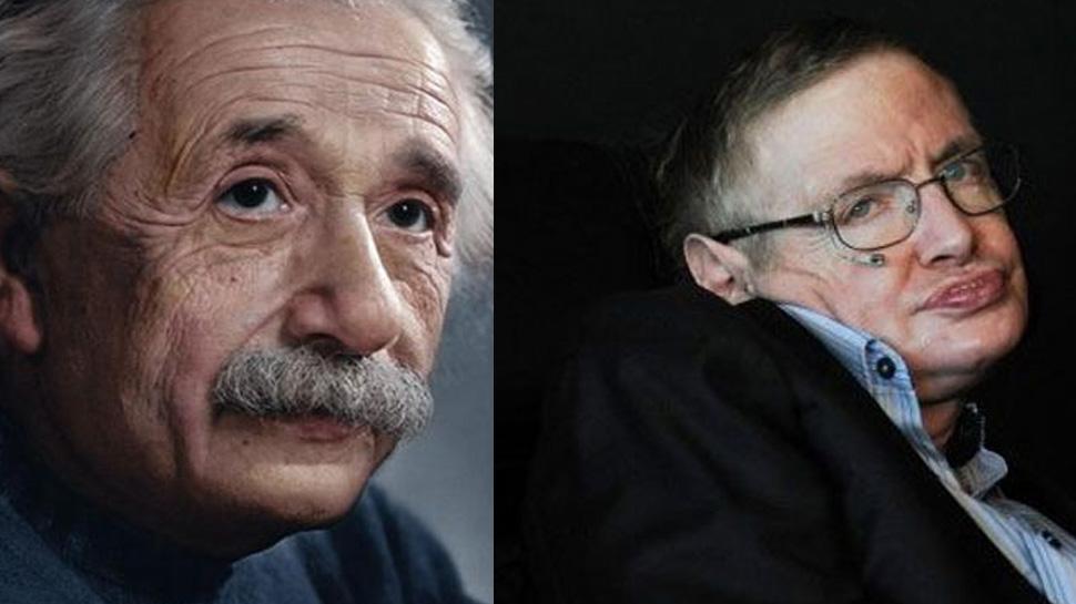 Stephen Hawking y Albert Einstein