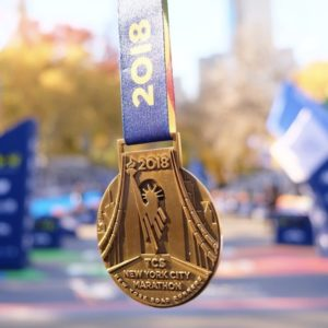 Medalla del Maratón de New York 2018
