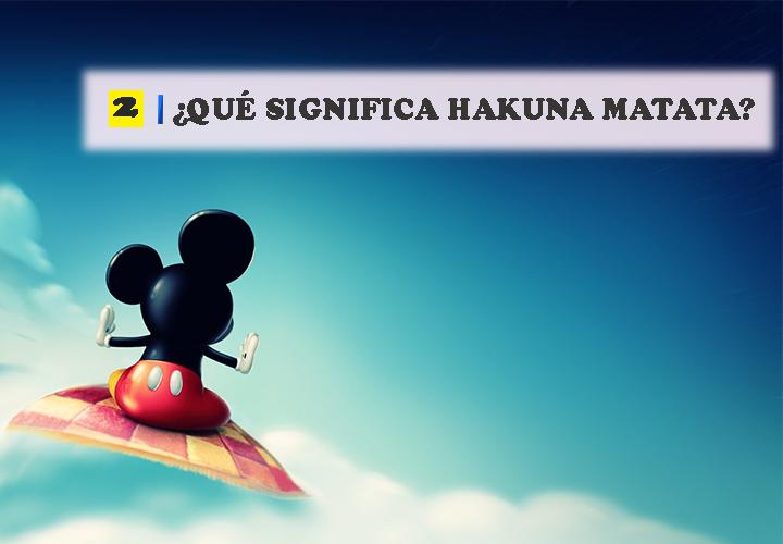 Pregunta 2 Vocabulario de Disney