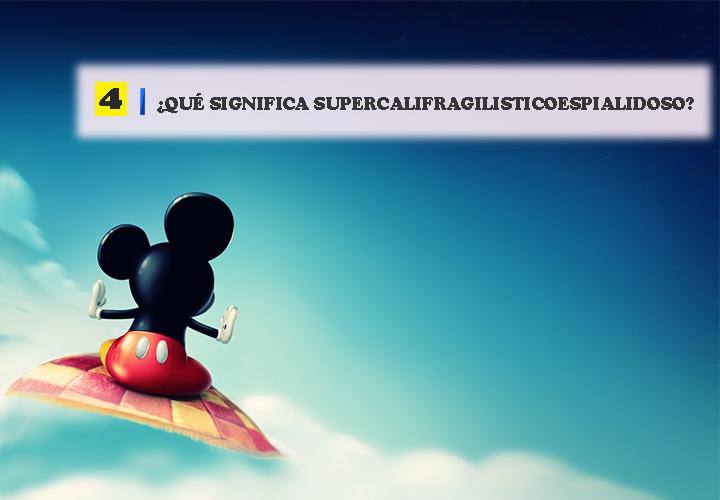 Pregunta 4 Vocabulario de Disney