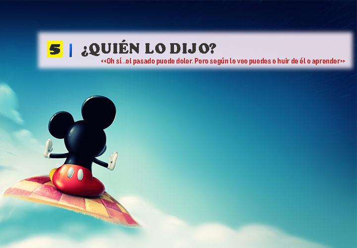 Pregunta 5 Vocabulario de Disney