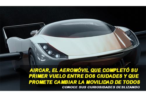 AIRCAR: EL CARRO VOLADOR COMPLETA SU PRIMER VUELO ENTRE DOS CIUDADES
